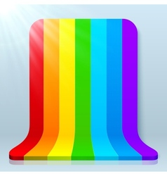 Rainbow stripes plastic background vector