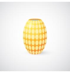 Realistic flower vase vector image