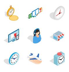 renew icons set isometric style vector image