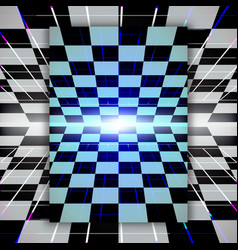 Retro checkerboard background vector
