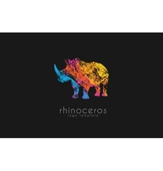 Rhino logo Animal logoAnimal logo collection vector