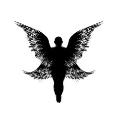 rising angel silhouette vector image