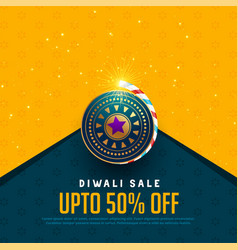 Sale and offer background for diwali festival vector