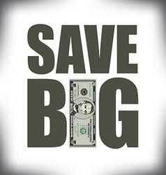 Save Big Five vector image