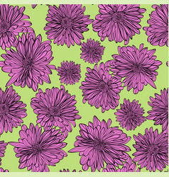 seamless pattern background with outline hand vector image