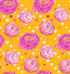 Seamless pattern with blooming flowers vector