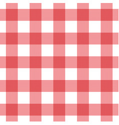 Seamless plaid checkered gingham pattern vector