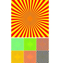 Set of different colour rays vector