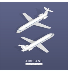 Set with airplane icons vector