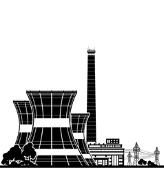 Silhouette Nuclear Power Plant vector