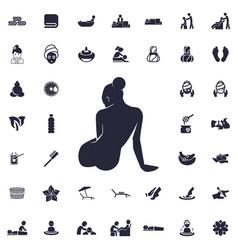 Sitting woman icon vector