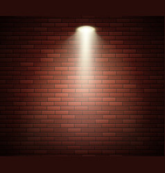 spotlight against brick wall empty studio vector image