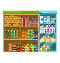 Supermarket interior concept vector