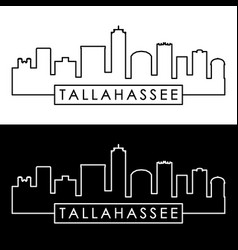 tallahassee skyline linear style editable file vector image