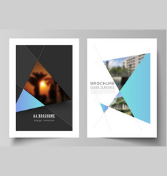 the layout of a4 format modern cover vector image