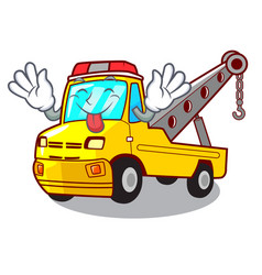 Tongue out tow truck for vehicle branding vector