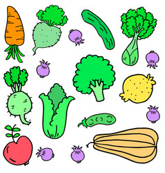Vegetable various set vector