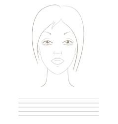 Visage sketch vector