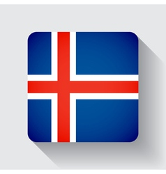 Web button with flag of Iceland vector