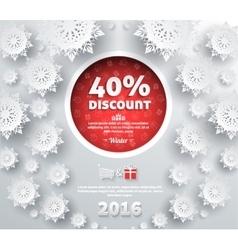 Winter Discount Best Choice Design Flat vector image