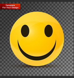 Yellow happy face vector
