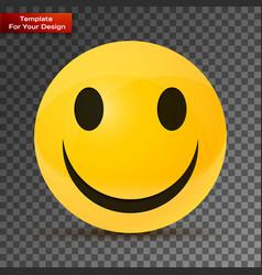 Yellow happy face vector