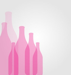 Background with pink bottles vector image vector image