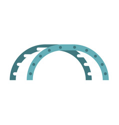 blue climbing stairs on a playground icon vector image
