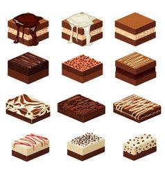 brownies vector image vector image