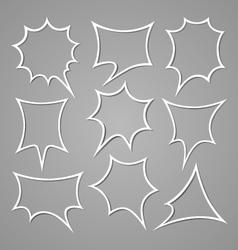 Bubble for speech set vector image vector image