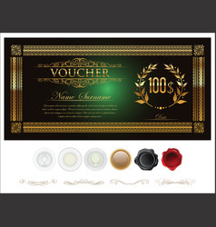 gift certificate retro vintage template 4 vector image
