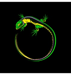 lizard logo vector image