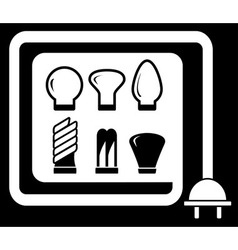 set bulb for sale vector image vector image