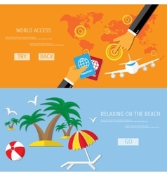 travel and beach relax vector image vector image
