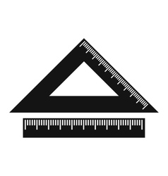 2 school rulers simple icon vector image