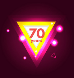 anniversary 70 icon vector image vector image