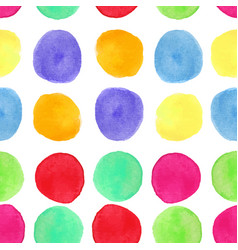 Colorful watercolor seamless pattern with circles vector