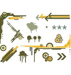 Design elements camo vector