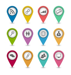 Set business infographics icons for design website vector image vector image
