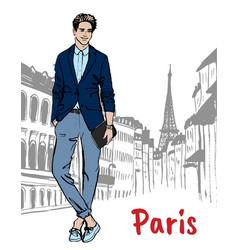 Street of paris vector