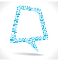 Blue men design message bubble stock vector image