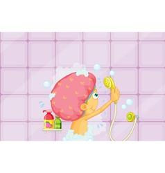 Girl showering vector image vector image