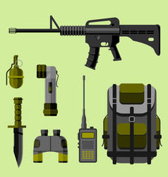 military weapon guns armor forces design and vector image