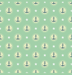 Pastel nautical pattern vector