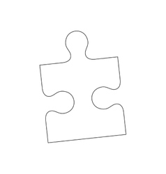 Puzzle pieces concept vector