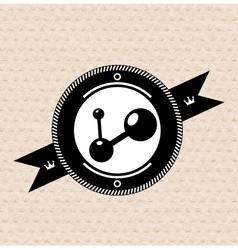 Vintage retro label tag badge social vector image