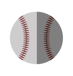 baseball ball sport isolated icon vector image
