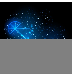 Disco blue shiny background with glass martini vector image