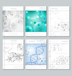 Molecular structure brochure or report templates vector image vector image
