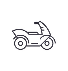 motorcyclemotorbike line icon sign vector image